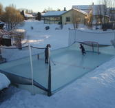 Rink in a box, 6x12 m med plywoodsarg